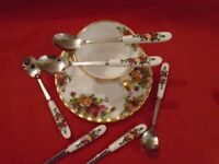 Set of 6 Tea Spoons These blend nicely with old country roses + more