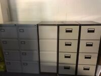 4 draw filing cabinets, with dividers, buyer collects
