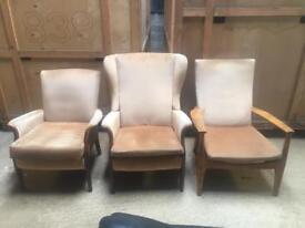 3 x Arm chairs