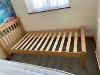 Single bed frame wooden construction