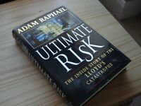 Book - Ultimate Risk SIGNED BY AUTHOR Adam Raphael.