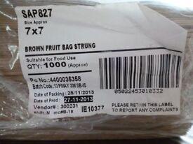Brown Paper fruit bags - strung
