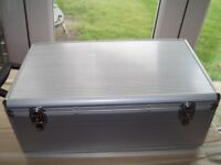 2 Aluminium C D storage cases with 210 (420) double wallets for sale
