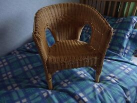 Childs wicker chair Free Local Delivery