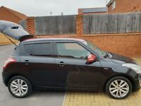 Suzuki Swift Black with Metallic Red Roof and Wing Mirrors - Perfect First Car!