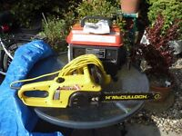 generator and chain saw