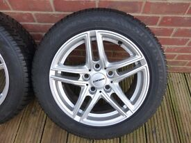 BMW 1 series Set of Four Borbet Alloy wheels, excellent condition