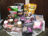 carp fishing bait WITH LARGE CAMO BUCKET boilies sticky baits,solar ,mainline quest pop ups, stick