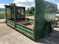 Hook Loader Body, Roll On Roll Off, Flat Bed Skip, Solid Condition. 13ft long.