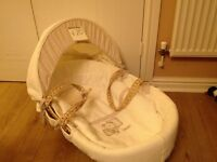 Mamas and papas cream moses basket without a stand