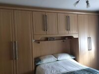 Wooden Fitted Wardrobes including dressing table with a wall Mirror!