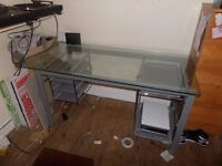 ***FREE*** GLASS TOP DESK