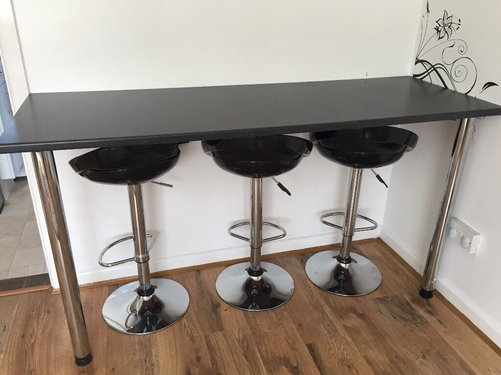 Breakfast Bar And 3 Stools In Reading Berkshire Gumtree