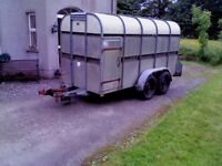 12 ft Bateson galvanised cattle trailer, brakes working, in good condition