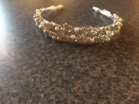Crystal and mother of pearl tiara