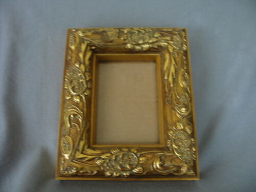 ORNATE GOLD WOOD CARVED FRAME -PAIR
