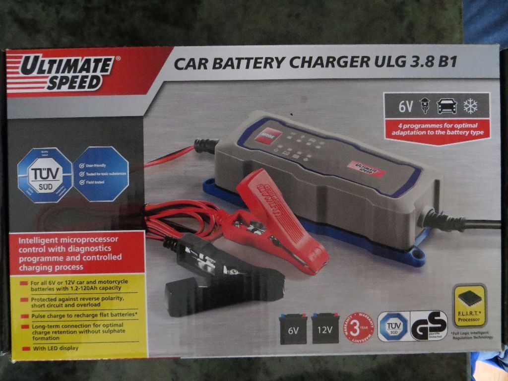 Ultimate Speed Car Battery Charger Ulg 3 8 B1 6v 12v 4