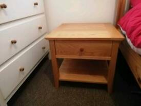 John Lewis solid oak table with drawer