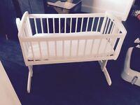 Kub swinging crib hardly used like brand new £40