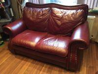 vintage italian leather sofa