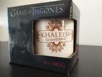 "Game of Thrones 11oz mug, ""Khaleesi"", white mug, GOT collectible."