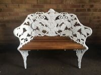 Fern and Blackberry design 2-seat bench