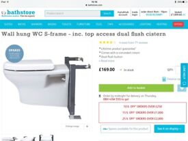 Two Brand New Quality Wall Hung (Floating) Toilet Systems