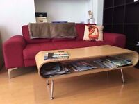 Red 3 seater Vittoria sofa, as new, from Made