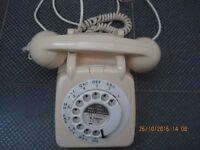 Cream telephone