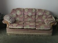 3 seater settee and 2 chairs