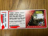 1x READING EARLY ENTRY TICKET