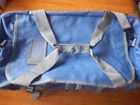 Large Borderline 70L blue & grey unisex water resistant holdall/camping/sailing/travel bag brand new