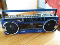 Portable cassette tape player