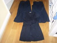 3 Pack of Marks and Spencer Girls Crease Resistant Navy School Pinafore Dresses Age 10; VGC