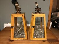 Lanterns for candles or LCD lights matching pair