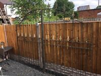 Large Set Of Arched Arrow Head Driveway Security Gates- DELIVERY AVAILABLE