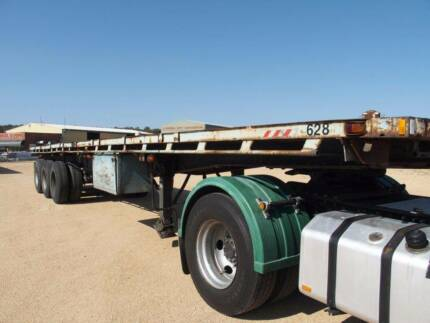 Custom ST3 12.3 (40 feet) Tri-Axle Flat Top Semi Trailer