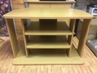 Tall Beech Colour TV Stand