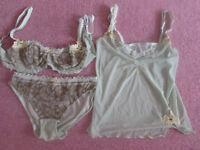 Miriale luxury lingerie set BNWOT Bra SIZE 38B Camisole/briefs size 16-18