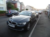 BMW 320d SE 2007 Black Automatic with Pro Sat Nav, Full Service History, MOT until Feb 2017.