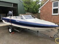 Fletcher Speed Boat 16ft with 100hp Mercury outboard engine
