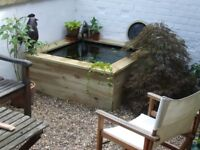 RAISED POND/ WATER FEATURE.. Lenght 1.2m Width 1.2m Depth 45cm. Including National delivery.