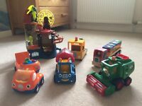 Wow toys, Peppa Pig truck, Imaginext Castle and Wooden Shape Stacking Truck