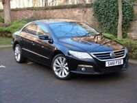 EXCELLENT EXAMPLE!!! 61 REG BLACK VOLKSWAGEN CC 2.0 TDI BlueMotion Tech GT 4dr, FULL LEATHER MOTED