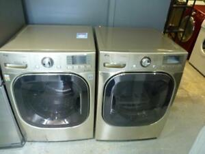 20-Laveuse Sécheuse Frontales VAPEUR  LG STAINLESS 4.8 pi cu Frontload Washer and Dryer STEAM