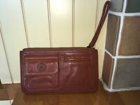 Ladies tan leather 'Gap' wristlet