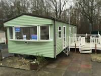 Static caravan with veranda and fees - Sundrum Castle Holiday Park West Scotland Ayrshire