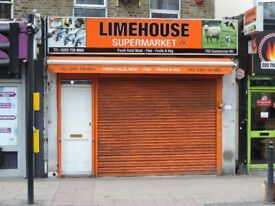 Retail Property to rent in commercial road london licence for A1 & A2 1,194 sq ft (110sq m)