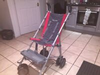 Maclaren Major Elite Special Needs Transport Pushchair Stroller Red and Charcoal