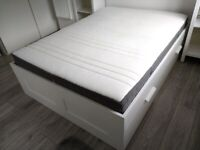 Ikea Brimnes double bed with Hovag double pocket sprung mattress